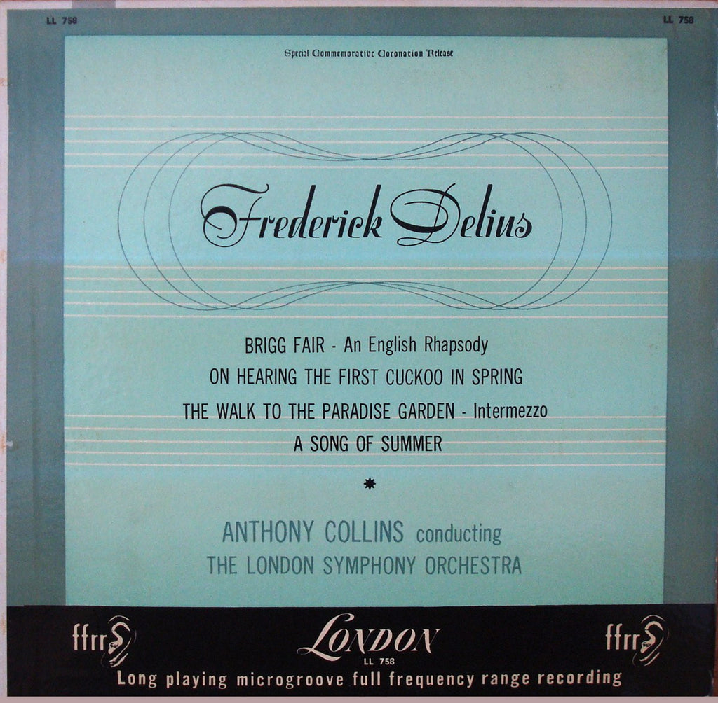 LP - Collins/LSO: Delius Brigg Fair, A Song Of Summer, Etc. - London LL 758