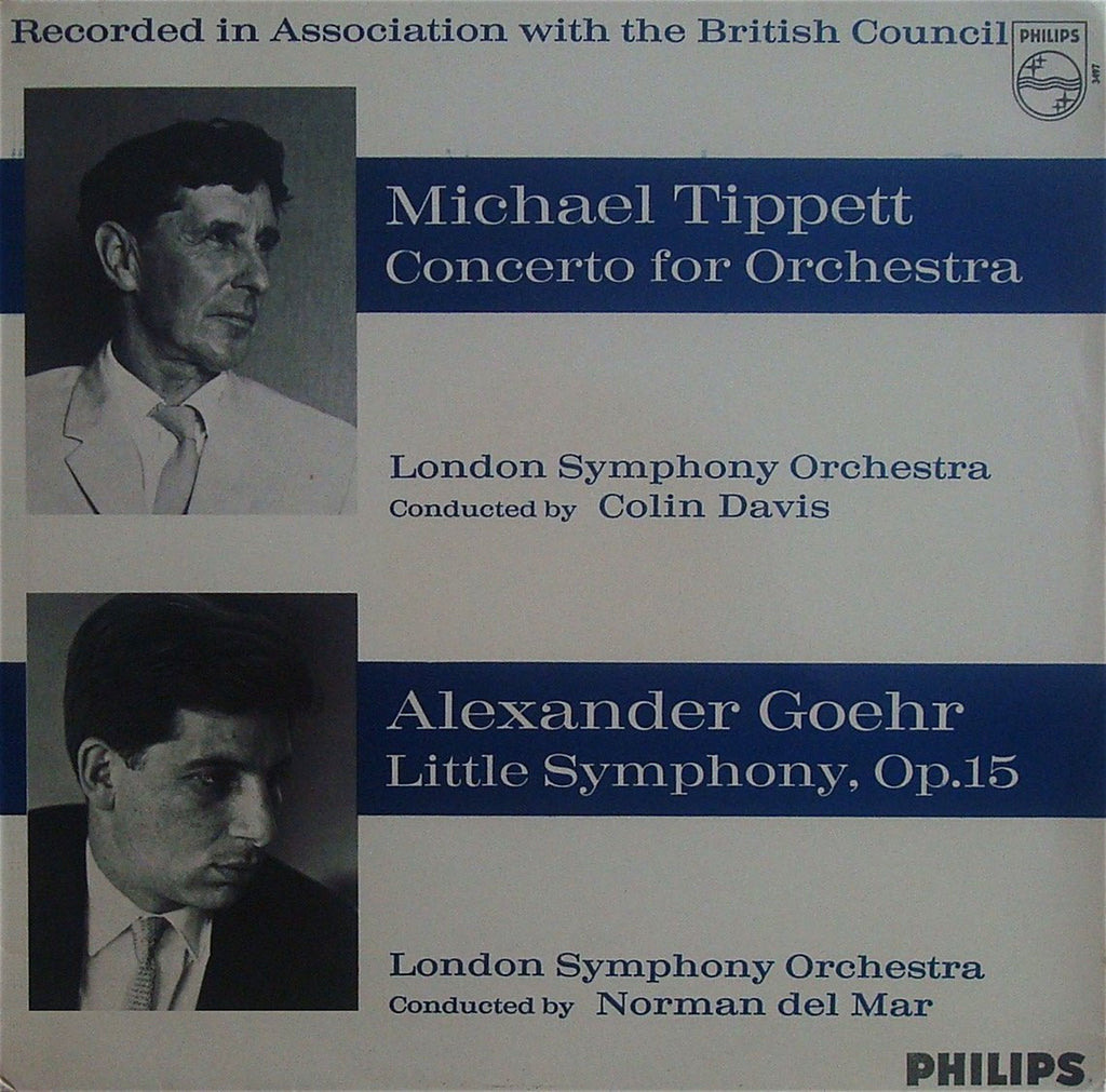LP - Davis: Goehr Little Symphony + Tippett Concerto For Orchestra - Philips SAL 3497