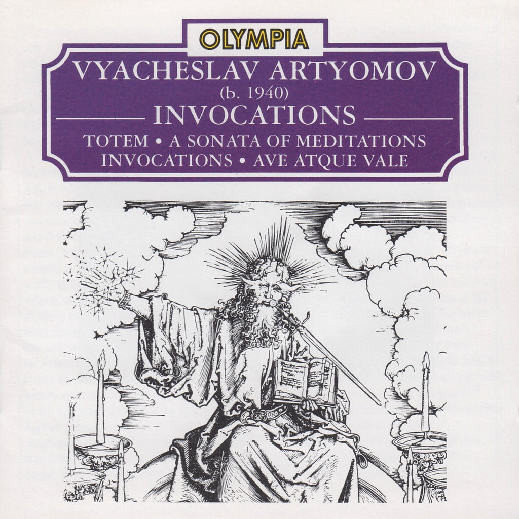 CD - Davydova: Artyomov Invocations, Totem, Ave Atque Vale - Olympia OCD 514