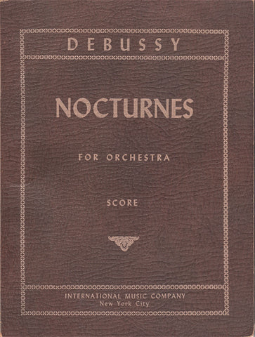 Book - Debussy: Nocturnes For Orchestra - International Music Company (pocket Score)