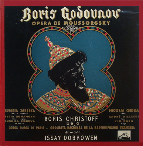 LP - Dobrowen: Boris Godunov (with Christoff) - Spanish HMV LALP 384/7 (4LP Box, ED1)
