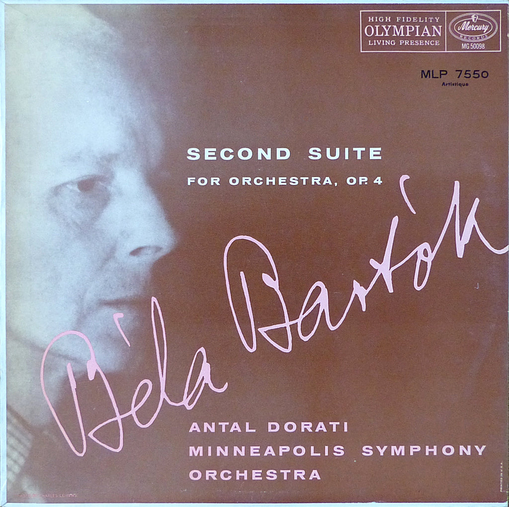 Dorati: Bartok Second Suite for Orchestra - Mercury MLP 7550