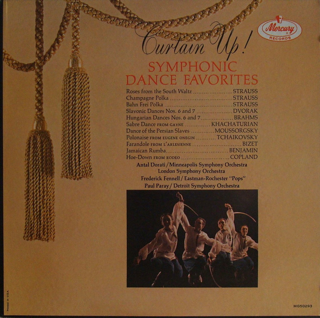 "LP - Dorati, Paray, Fennell: ""Curtain Up!"" (Sym Dances) - Mercury MG50293, LP Sealed"