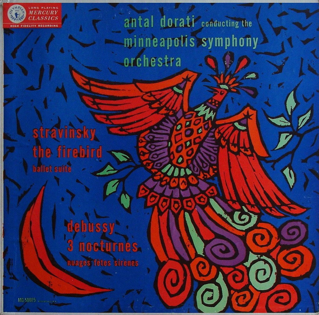 LP - Dorati/Minneapolis SO: Stravinsky Firebird & Debussy Trois Nocturnes - Mercury MG 50025