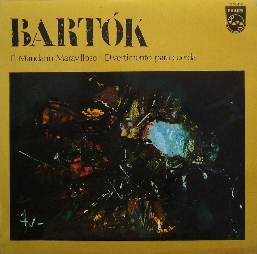 LP - Dorati/BBC SO: Bartok Miraculous Mandarin + Divertimento - Philips 58 38 419
