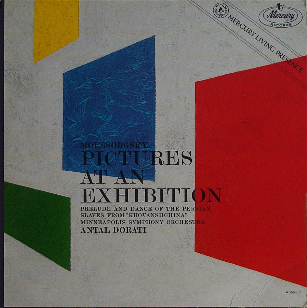 LP - Dorati/Minneapolis SO: Mussorgsky Pictures At An Exhibition, Etc. - Mercury MG 50217