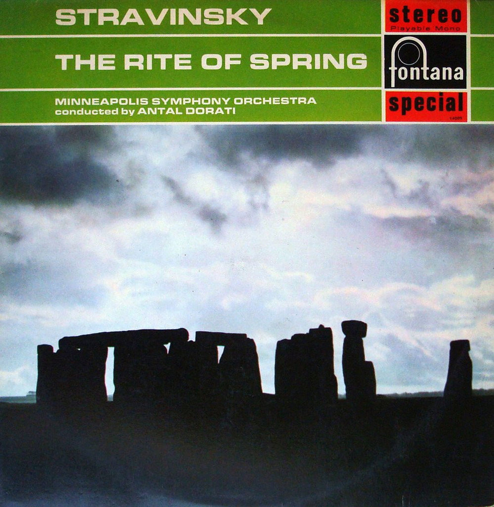LP - Dorati/Minneapolis SO: Stravsinky Le Sacre Du Printemps (rec. 1959) - Fontana SFL 14009