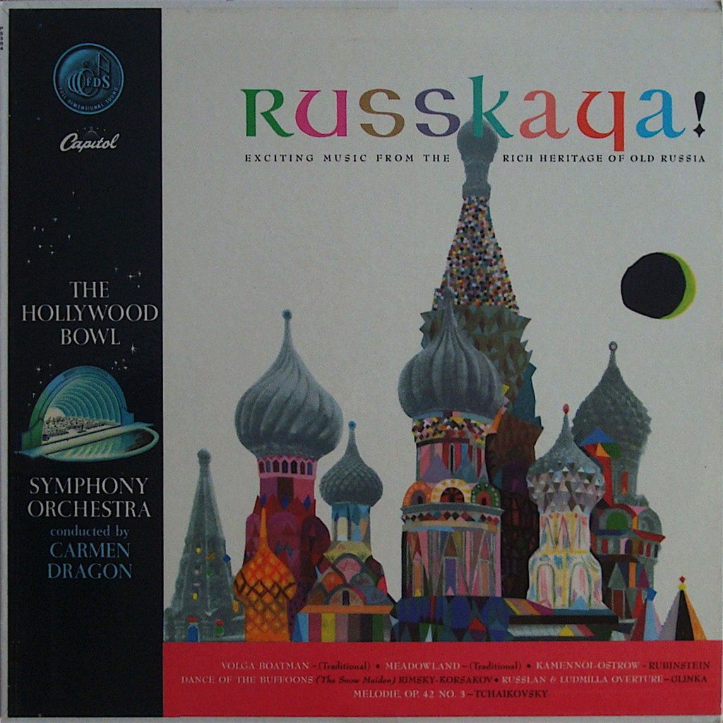 "LP - Dragon/Hollywood BSO: ""Russkaya!"" (Glinka, Tchaikovsky, Etc): Capitol P 8384, NM"