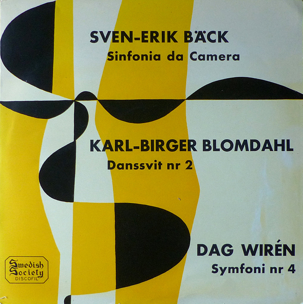 Ehrling: Wirén Symphony No. 4, etc. - Swedish Society 33123 B