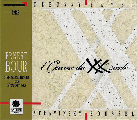 Bour: 20th Century Works (Ravel, Stravinsky, et al.) - Astrée Auvidis E 7800 (4CD set)