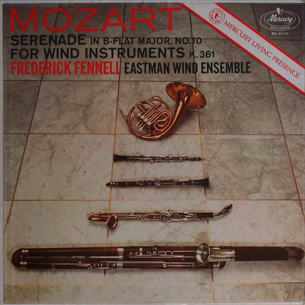 "LP - Fennell/Eastman Winds: Mozart Serenade K. 361 ""Gran Partita"" - Mercury MG 50176"
