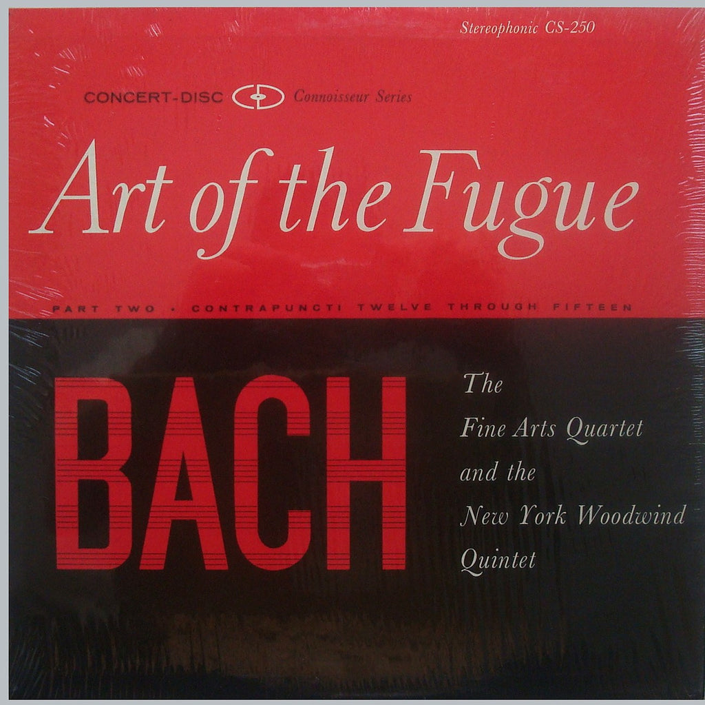 LP - Fine Arts Qt/NY Woodwind Qnt: Art Of The Fugue (Nos. 12-15): Concert-Disc CS-250