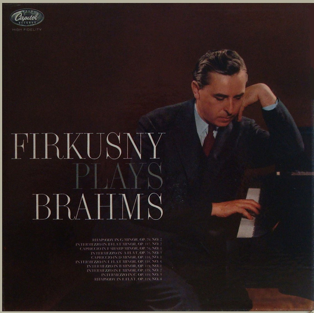 LP - Firkusny: Brahms Solo Piano Recital - Capitol P 8485 (rainbow Label); LP Is VG