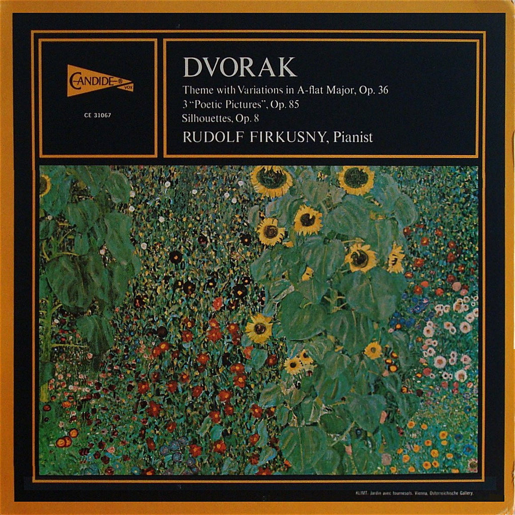 LP - Firkusny: Dvorak Theme With Variations, 3 Poetic Pictures, Etc. - Vox-Candide CE 31067