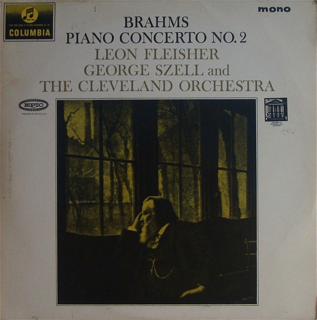 LP - Fleisher/Szell: Brahms Piano Concerto No. 2 Op. 83 - Columbia 33CX 1890