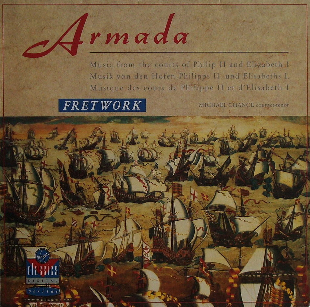LP - Fretwork: Armada (Music Of Philip II & Elizabeth II) - Virgin VC 7 90722-1 (DDD)