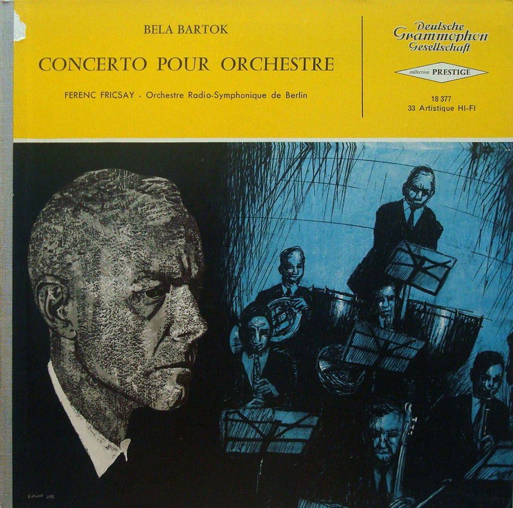 LP - Fricsay/Berlin RIAS SO: Bartok Concerto For Orchestra (rec. 1957) - French DG 18377