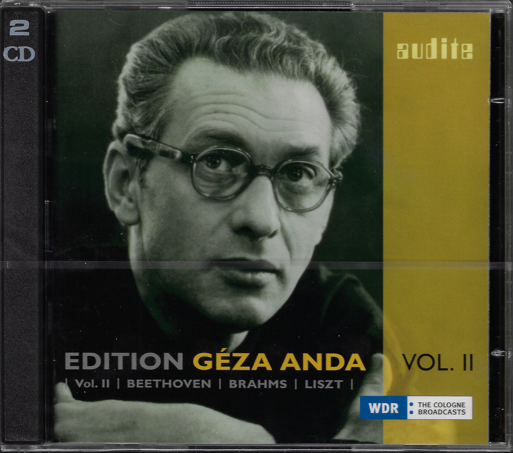 Geza Anda Ed. Vol. II: Beethoven, Liszt, etc. - Audite 23.408 (2CD set, sealed)