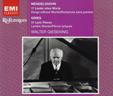 Gieseking: Songs without Words + Lyric Pieces - EMI 5 66775 2 (2CD set)