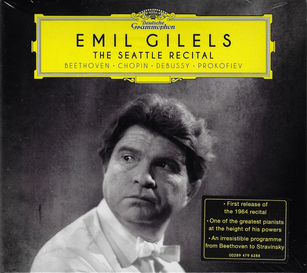 Gilels: The Seattle Recital (Beethoven, etc.) - DG 479 6288 (sealed)