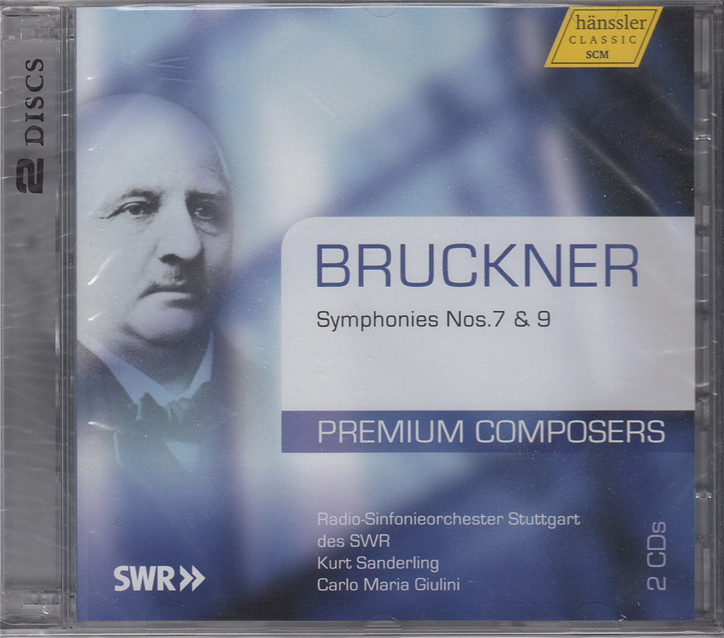 CD - Giulini: Bruckner 9th / Sanderling: Bruckner 7th - Hanssler CD 94.604 (2CD Set) (sealed)
