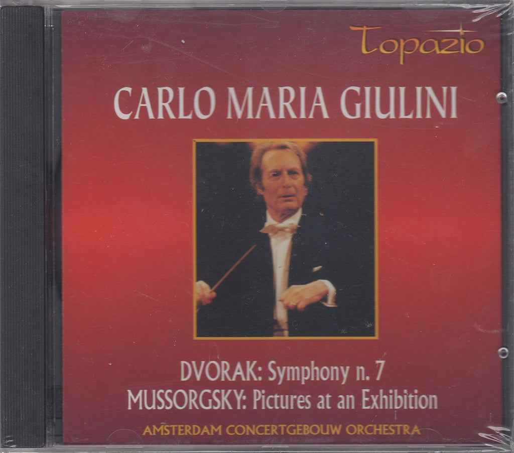 "CD - Giulini: Pictures At An Exhibition + Dvorak 7th (""live"") - Topazio TP 2604.3 (sealed)"