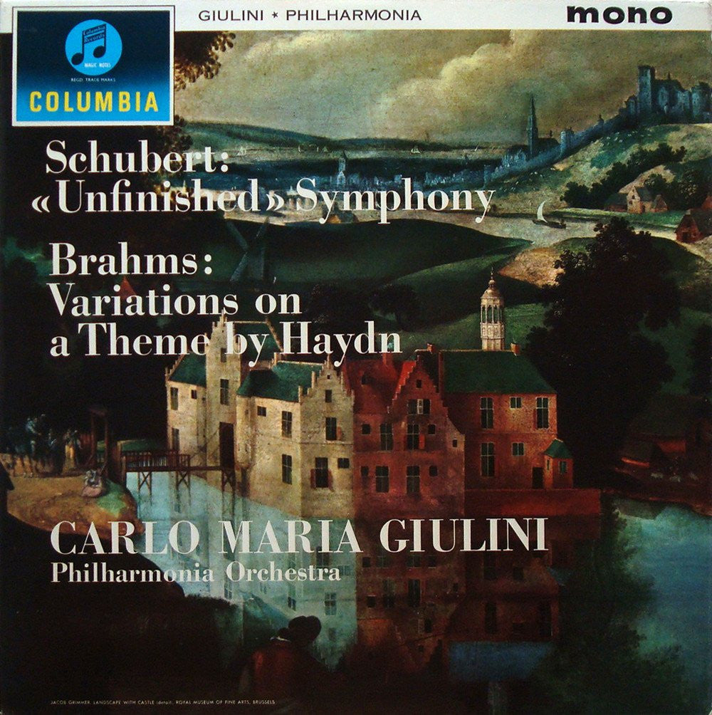 LP - Giulini: Brahms Haydn Vars + Schubert Unfinished - Columbia 33CX 1778