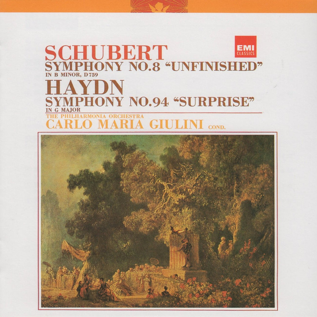 "CD - Giulini: Haydn ""Surprise"" Symphony / Schubert ""Unfinished"" - EMI Japan TOCE-13202"