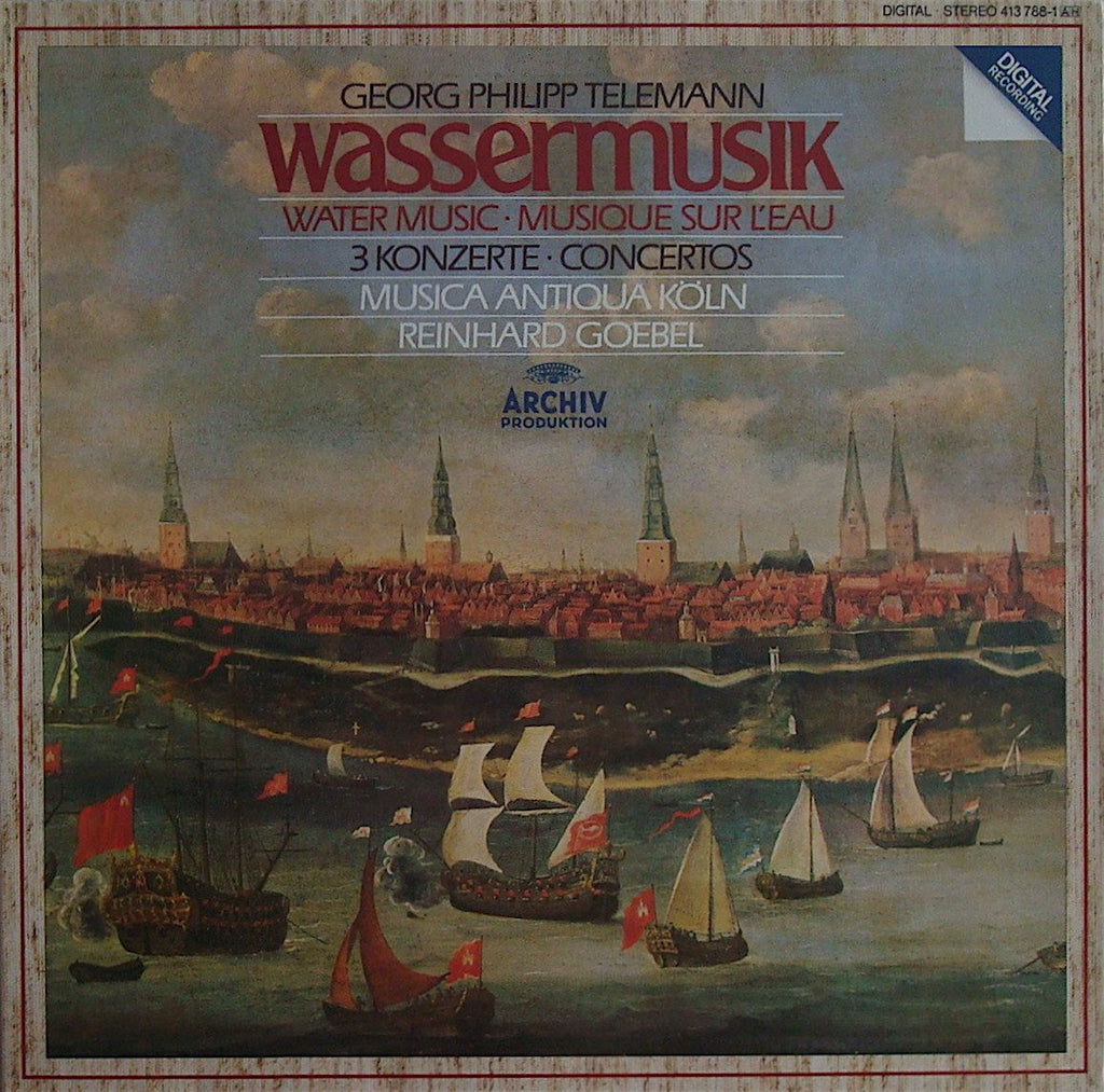 LP - Goebel/Musica Antiqua Köln: Handel Water Music - Archive 413 788-1 (DDD)