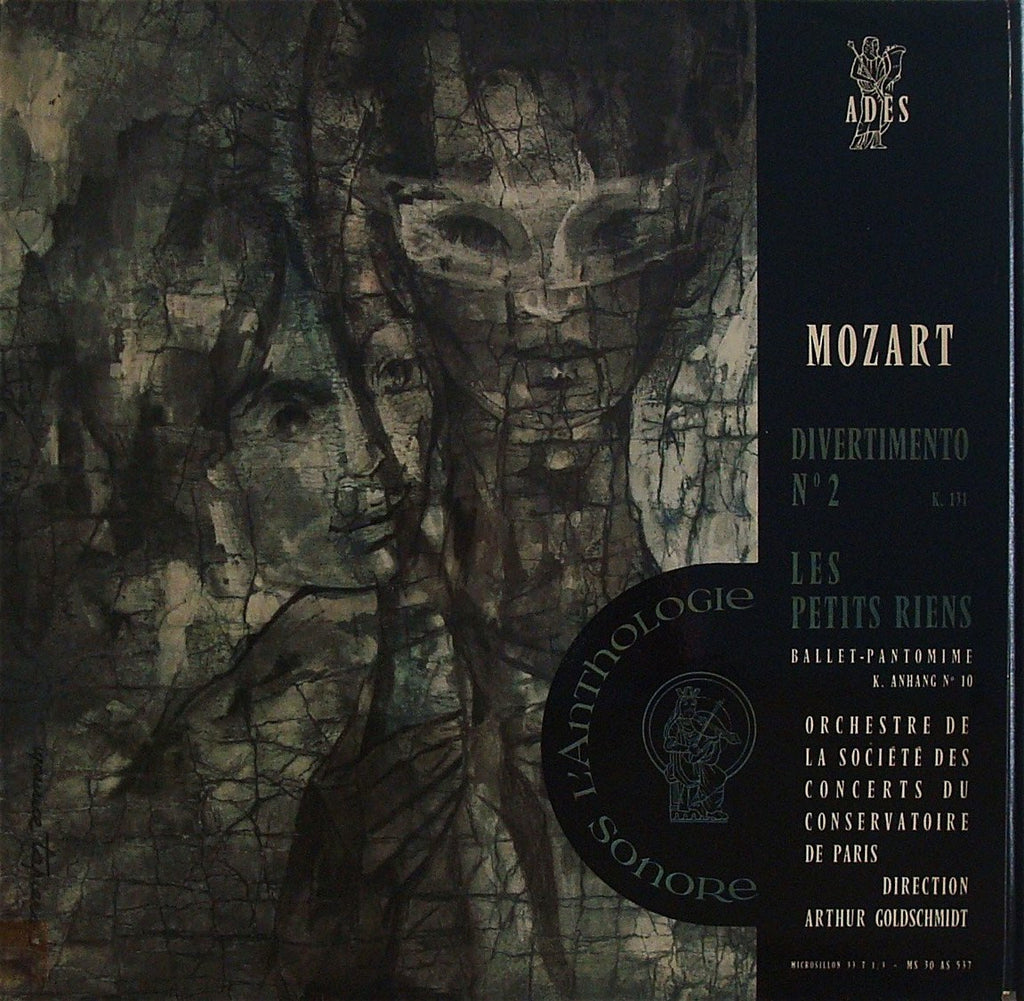 LP - Goldschmidt: Mozart Divertimento K. 131 + Les Petits Riens - Adès MS 30 AS 537