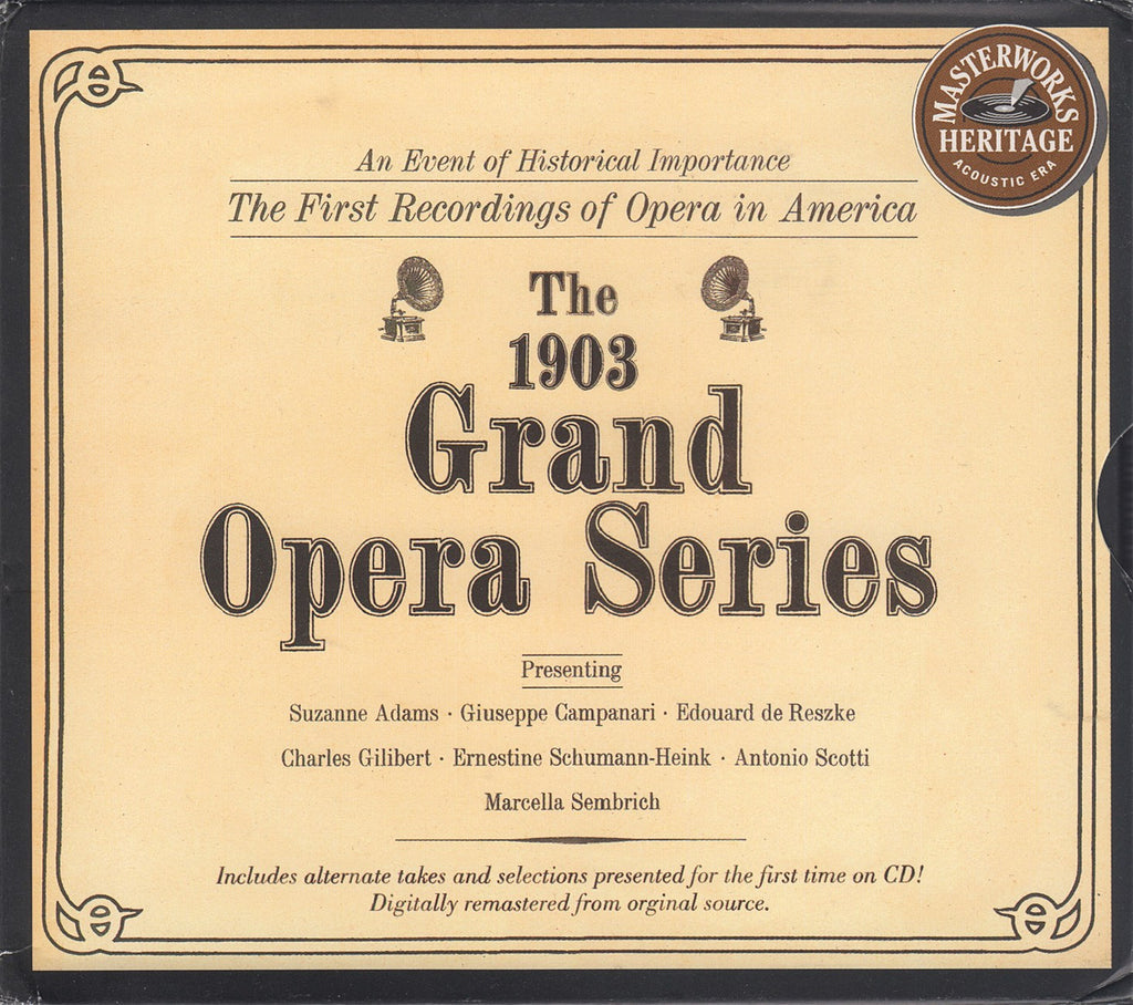 CD - 1903 Grand Opera Series (deluxe Issue) - Sony MH2K 62334