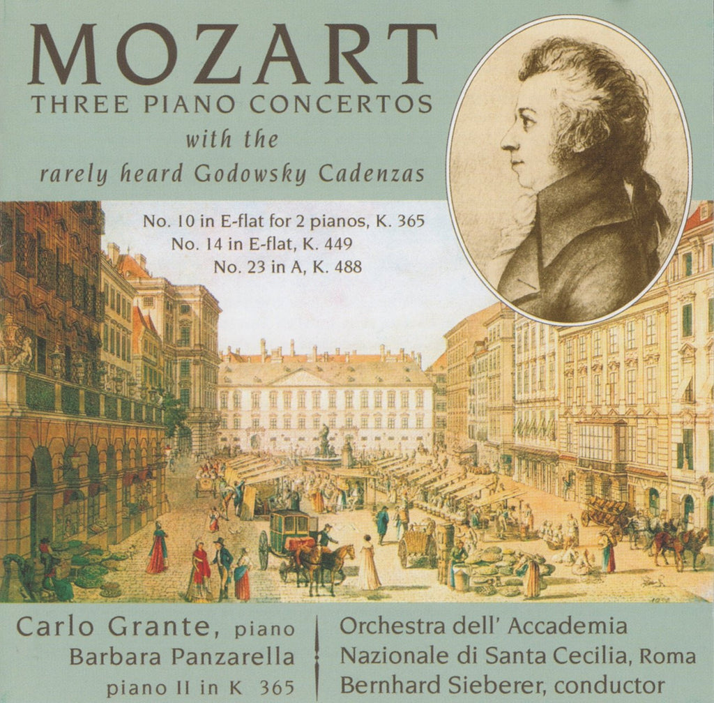 CD - Grante: Mozart Piano Concerti K. 449, K. 488 & K. 365 - Music & Arts CD-1222 (DDD)