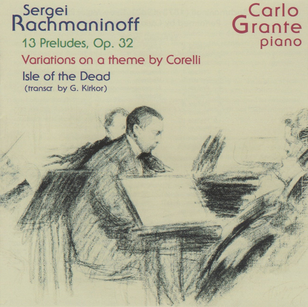 CD - Grante: Rachmaninov Isle Of The Dead (arr. Kirkor) + Corelli Vars - Music & Arts CD-1228 (DDD)
