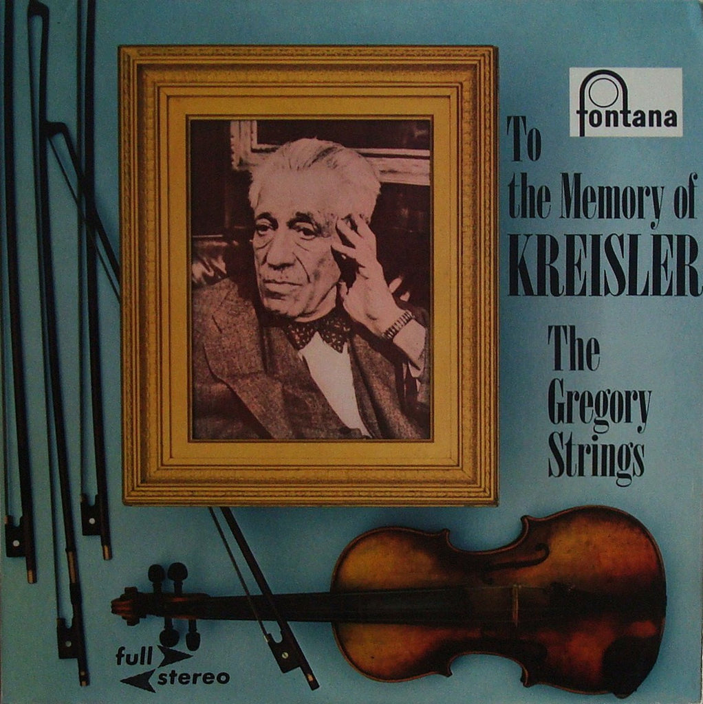 "LP - Gregory Strings: To The Memory Of Kreisler"" - Fontana 886 149 TY ""full Stereo"""
