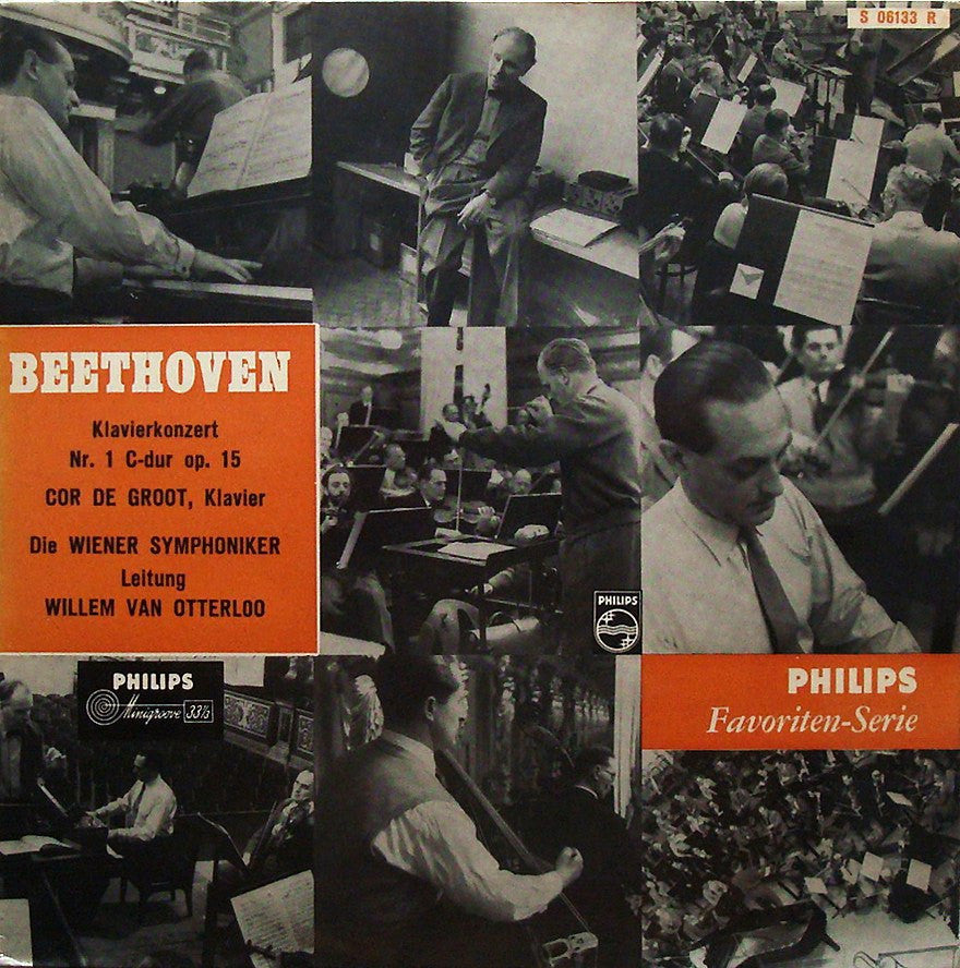 "LP - Cor De Groot: Beethoven Piano Concerto No. 1 - Philips S 06133 R (10"")"