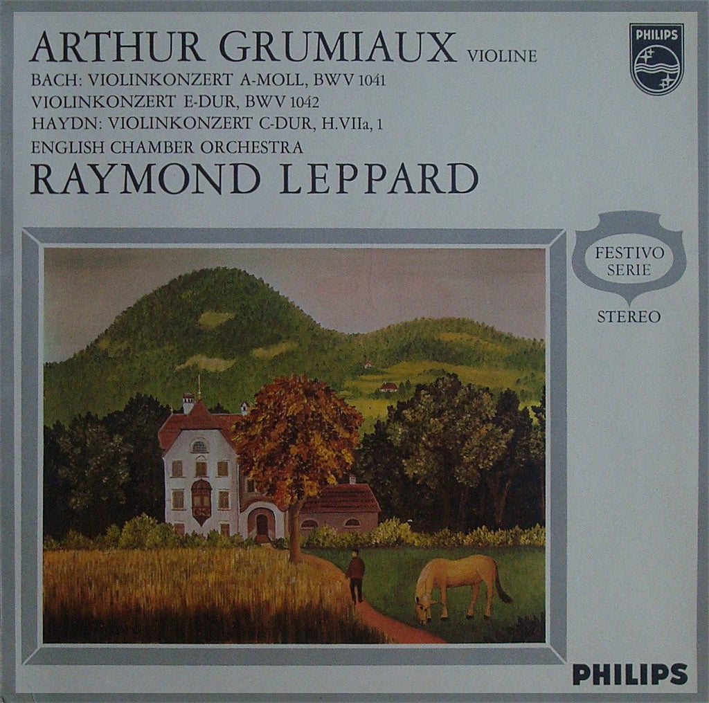 LP - Grumiaux: Bach Concerti BWV 1041/42 + Haydn - Philips 839 557 VGY