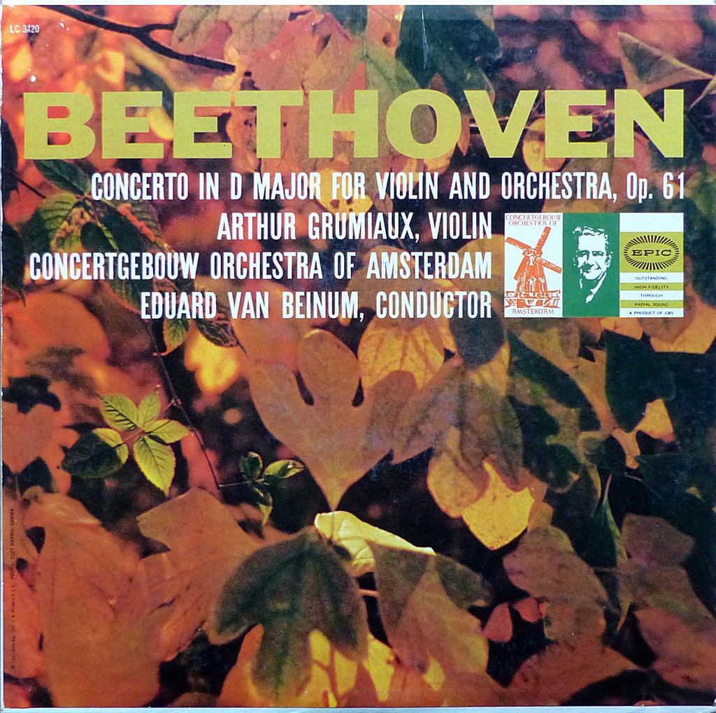 Grumiaux/Beinum: Beethoven Violin Concerto Op. 61 - Epic LC 3420