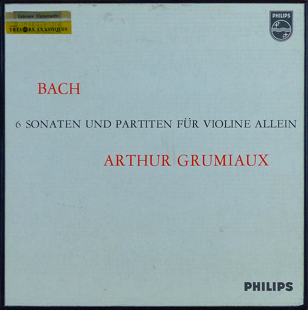 Grumiaux: Bach Sonatas & Partitas - Philips 835 198/200 AY (3LP box set)