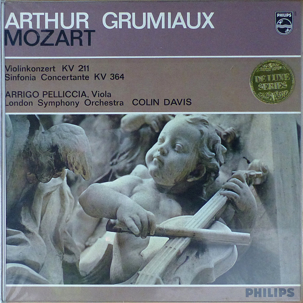 Grumiaux: Mozart K. 211 + K. 364 (with Pelliccia) - Philips L 02378 L