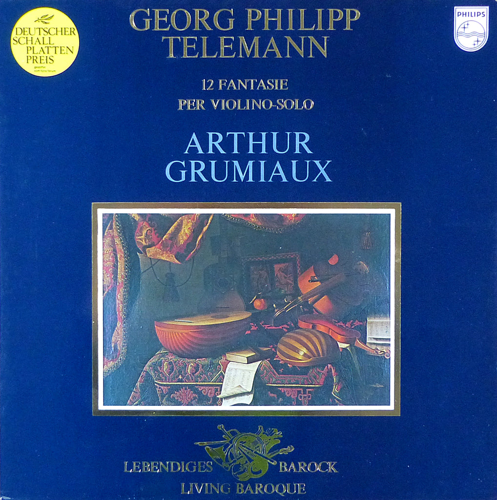 Grumiaux: Telemann 12 Fantasies for Solo Violin - Philips 9502 010