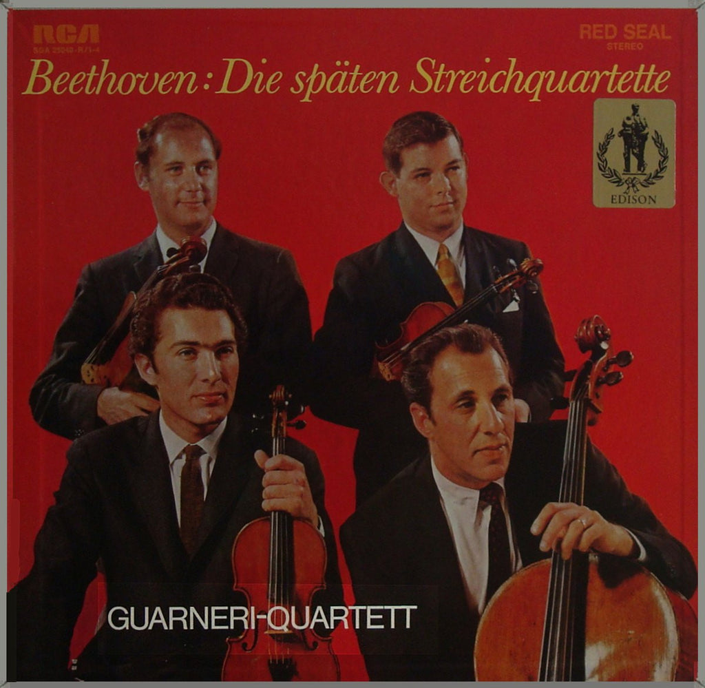 LP - Guarneri Qt: Beethoven Late Quartets - German RCA SGA 25040-R/1-4 (4-LP Box)