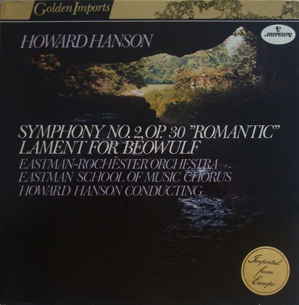 LP - Hanson Conducts Hanson: Symphony No. 2 / Lament For Beowulf - Mercury SRI 75007