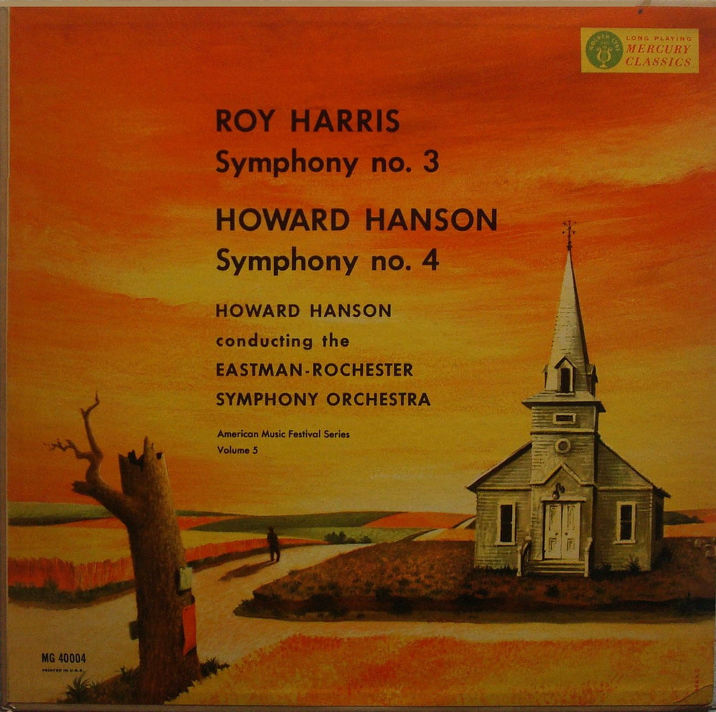LP - Hanson: Symphonies By Harris No. 3 & Hanson No. 4 - Mercury MG 40004, Superb!
