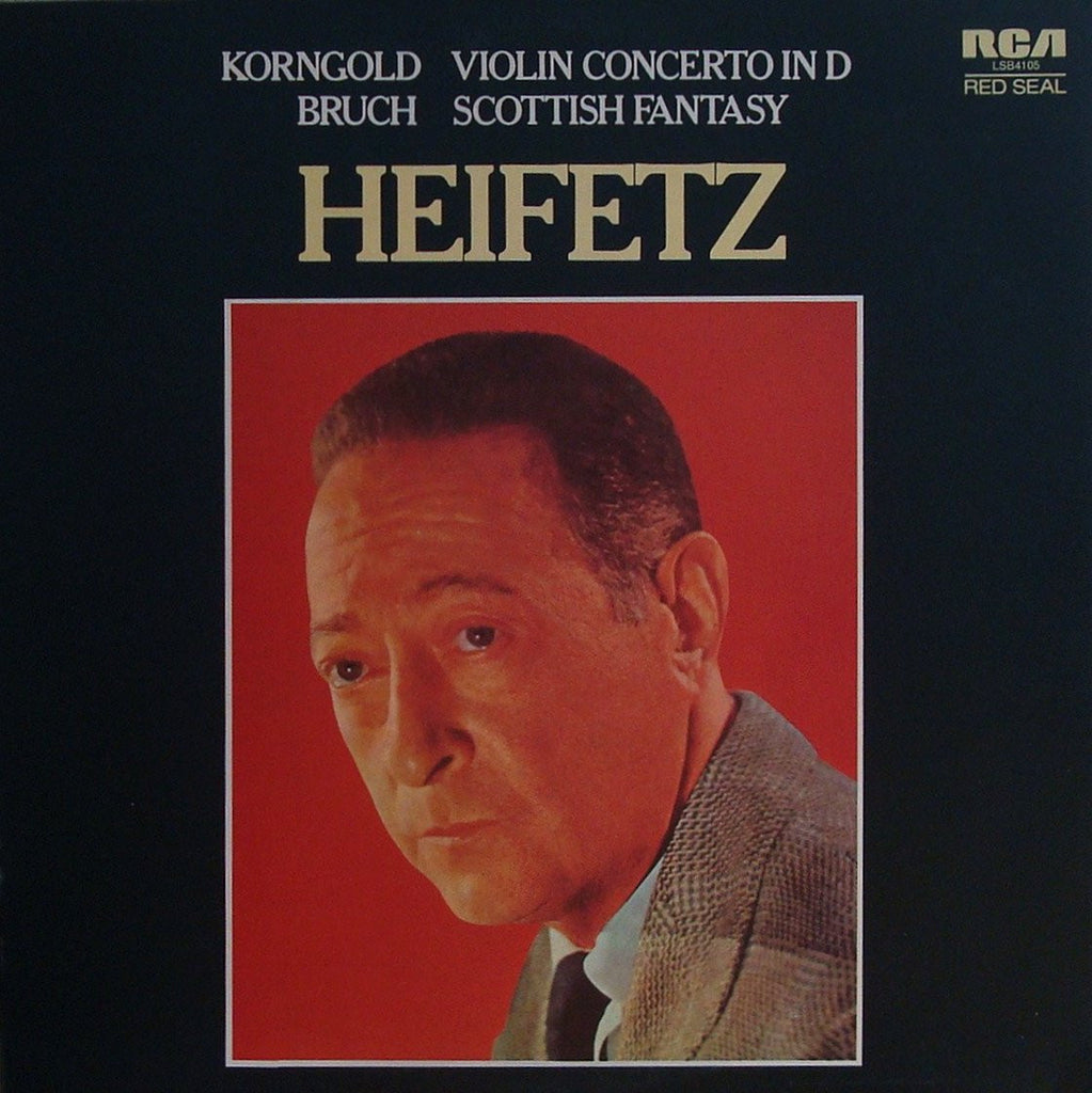 LP - Heifetz: Korngold Violin Concerto + Bruch Scottish Fantasy - RCA LSB-4105 (UK)