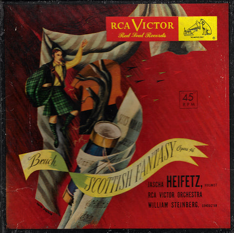 "Heifetz: Bruch Scottish Fantasy - RCA WDM 1183 (7"" 45 rpm X 3)"