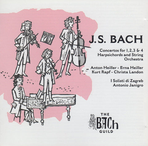 Heiller: Bach Concertos for 1/2/3/4 Harpsichords - The Bach Guild ATM-CD-1249 (2CD set)