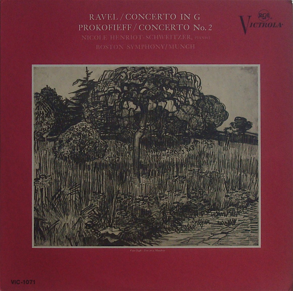 LP - Henriot-Schweitzer: Ravel Piano Concerto In G + Prokofiev No. 2 - RCA VIC-1071
