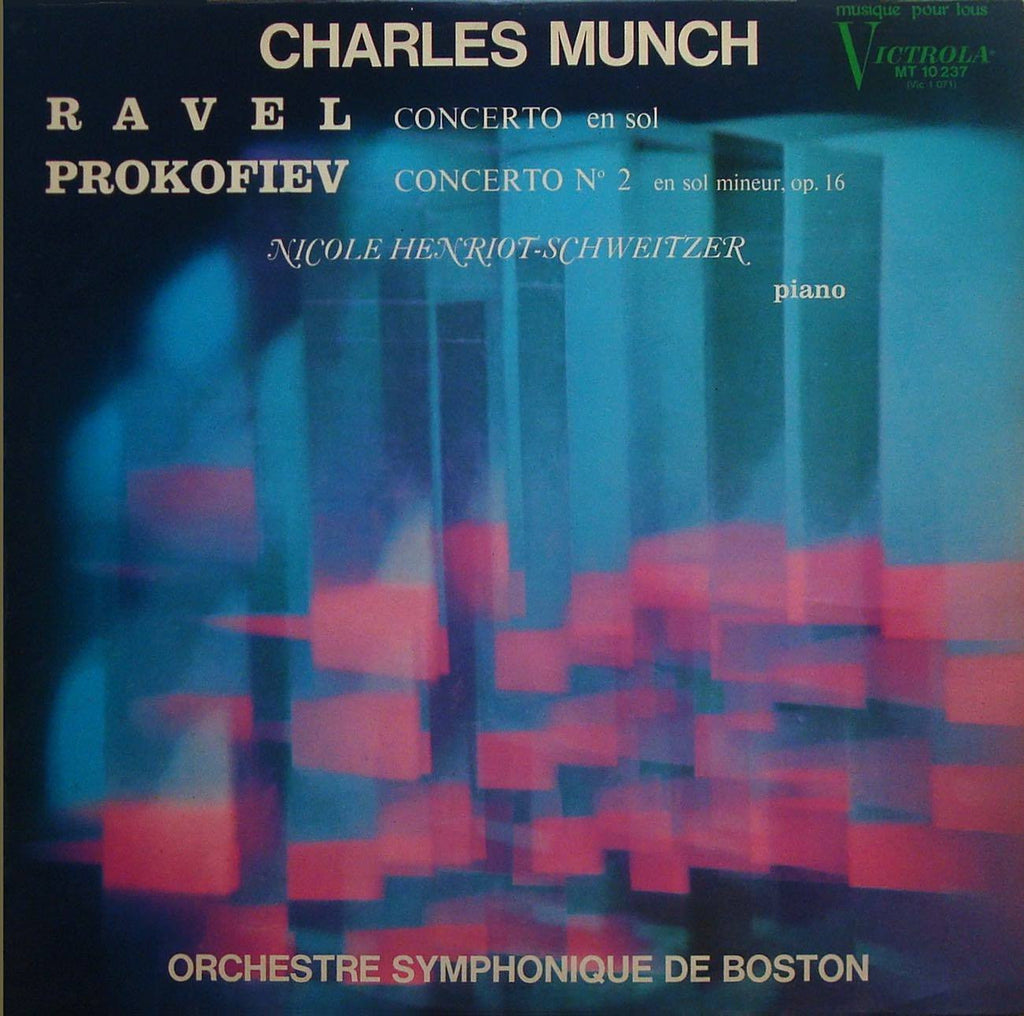 LP - Henriot-Schweitzer: Ravel Concerto In G + Prokofiev - French RCA Victrola MT 10237
