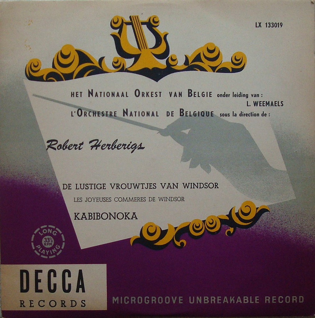 "LP - Weemaels: Herberigs The Lusty Wives Of Windsor - Decca LX 133019 (10"" LP) - Rare"