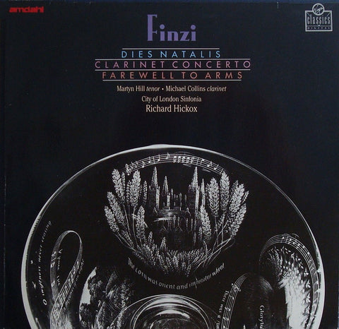 LP - Hickox: Farewell To Arms + Clarinet Concerto (with Collins) - Virgin VC 7 00718-1 (DDD)
